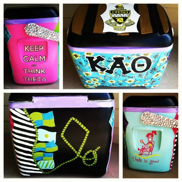 Diy Painted Cooler : Best paddles and coolers images on pinterest sorority