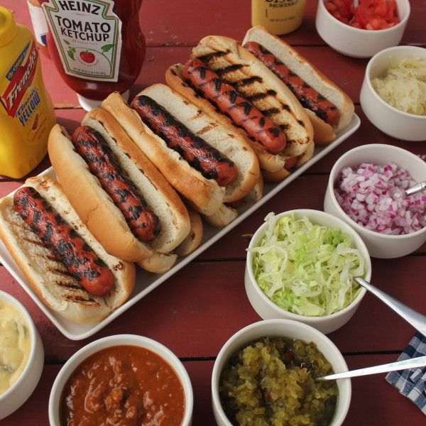 Hosting a cookout this weekend? Check out our Ultimate Hot Dog Bar -- perfect for a party!