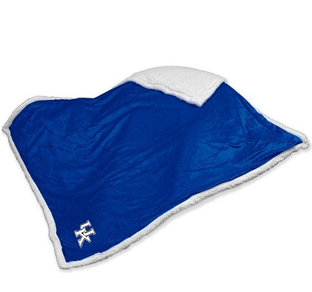Kentucky Wildcats Embroidered Sherpa Throw Blanket