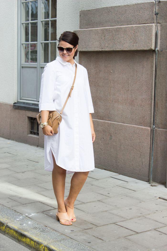 White skirt dress