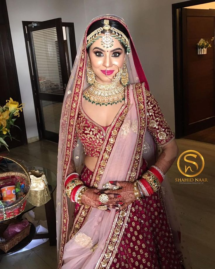 "7,478 Likes, 83 Comments - Shahid Naar_official (@shahidnaar) on Instagram: ""My Favourite Bride Prachi Jain in this flawless outfit by @sabyasachimukherjee #MakeUpByShahidNaar…"""