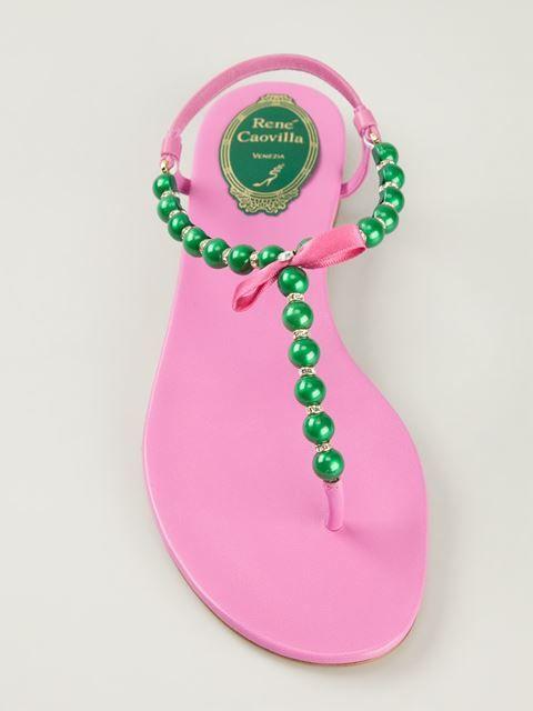 Rene Caovilla pink and green beaded sandals #followprettypearlsinc AKA 1908