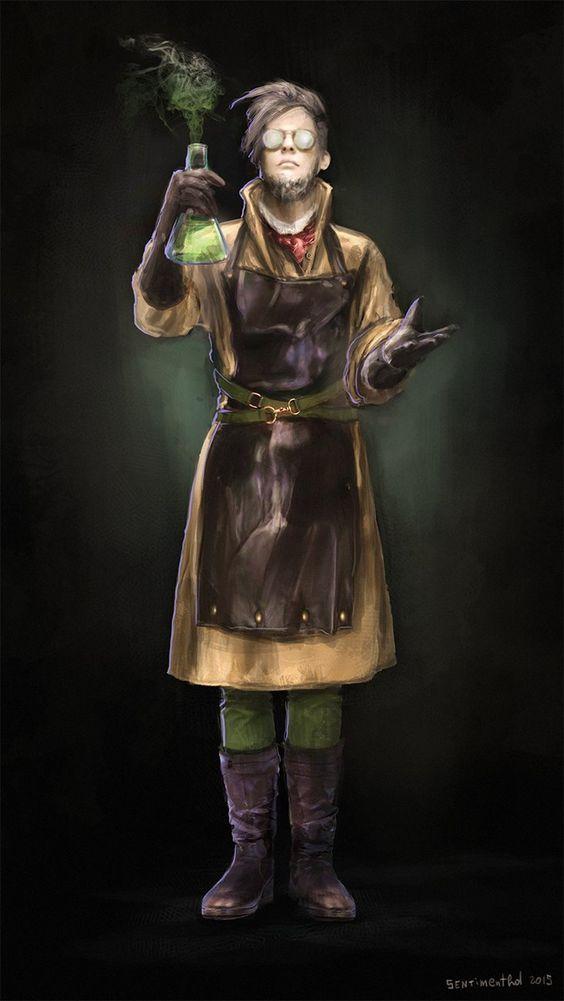 ArtStation - Mad scientist, Ksenia Sentimenthol Galushkina: