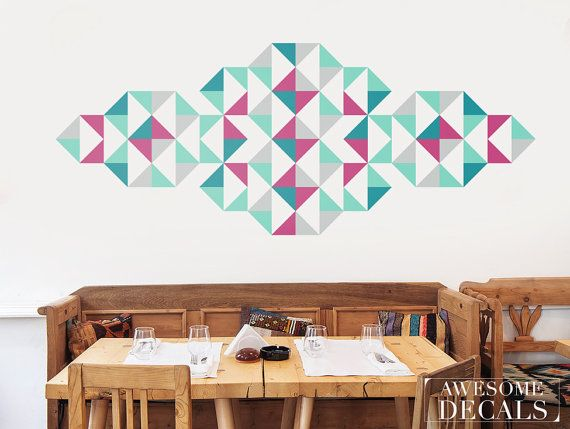 """Geometric art - Ornament wall decal - Abstract wall decal 31""""x 79"""" - Large - 045"""