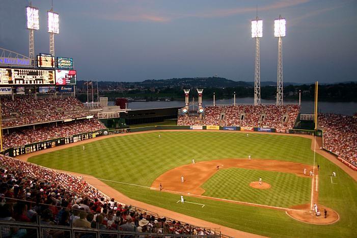 Great American Park in Cincinnati, OH for Cincinatti Reds baseball park.