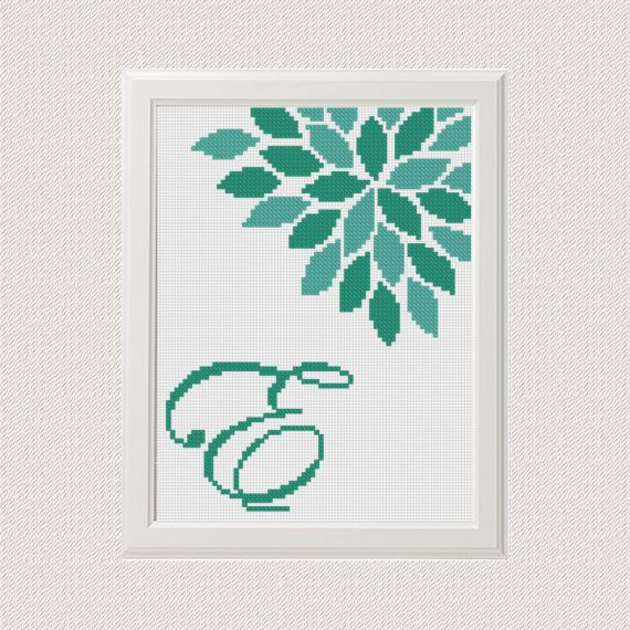 initials cross stitch pattern Monogram cross от AnimalsCrossStitch