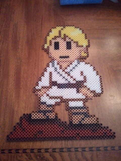 Luke Skywalker perler beads by fefifonom