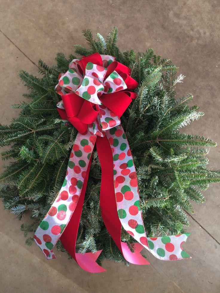 Fresh Christmas Wreath by WreathsAndMoreKathy on Etsy https://www.etsy.com/listing/473772139/fresh-christmas-wreath