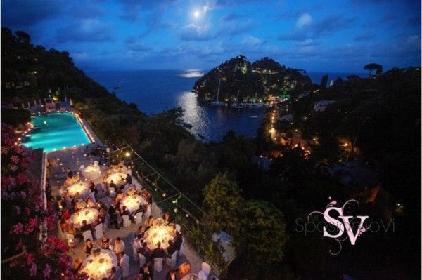 Portofino wedding reception by SposiamoVi - Italy http://sposiamovi.it/en/locations/portofino-italian-riviera-wedding Photo Sandro Ariu @Orient-Express
