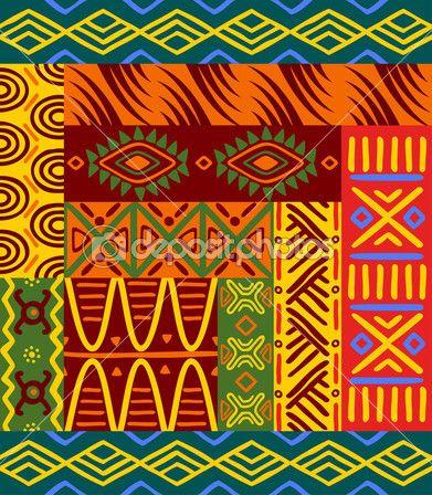 Padrões étnicos abstratos e ornamentos para o projeto