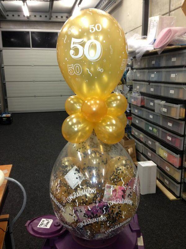 Decoratieballonnen voor Abraham en Sara - De Ballonnenkoning
