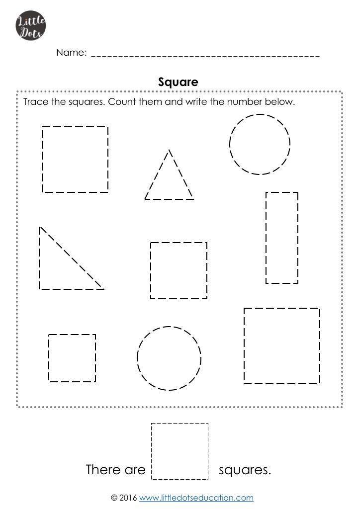 Pre-K Math Shapes Worksheets and Activities in 2020 ...