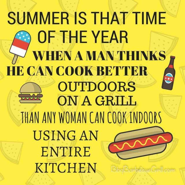 Women Quotes In The Kitchen: 17 Best Summer Bbq Quotes Images By BBQ-Barbecue-Grill On