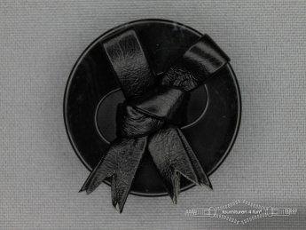 Design knoop 38mm leren strik zwart