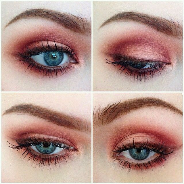Grunge Makeup Look Idea: Red Eyeshadows - http://ninjacosmico.com/35-grunge-make-up-ideas/