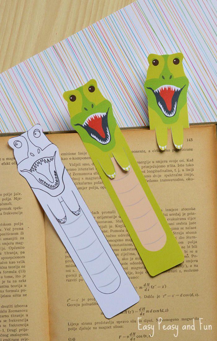 Printable Dinosaur Bookmarks
