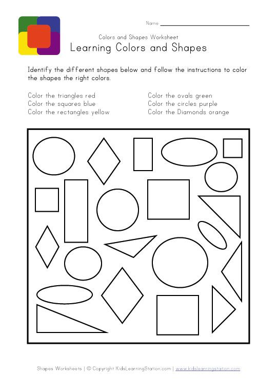 Wild image throughout learning shapes and colors for toddlers printable