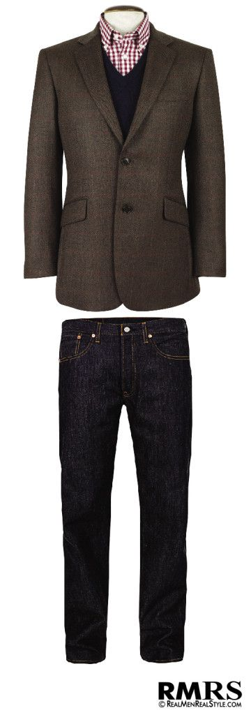 How To Wear A Sports Jacket With Jeans – Matching Denim And A Sport Coat (via @Antonio Covelo Covelo Covelo Centeno)