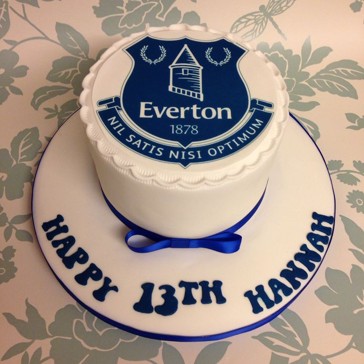 Cake Design Cardiff : Everton cake Food craft Pinterest Everton and Cakes