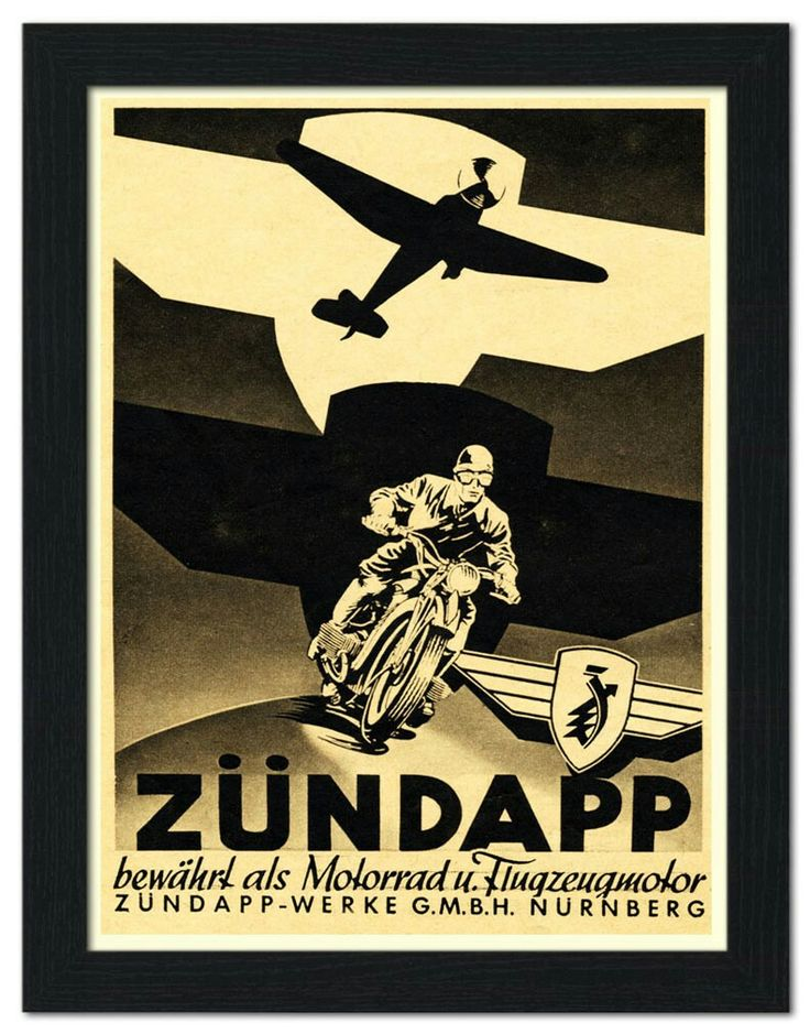 Zündapp Motorcycle Poster