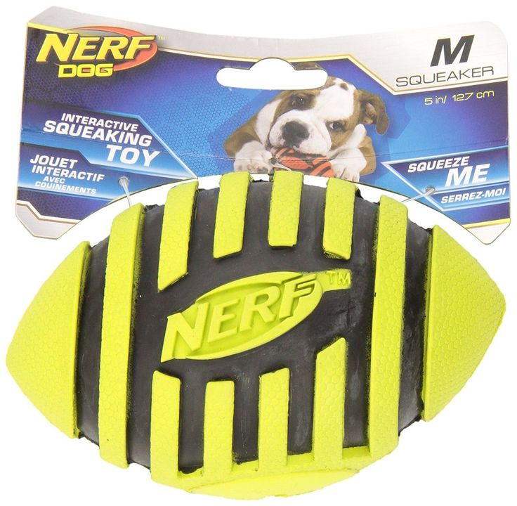 Nerf Dog Toys Spiral Squeak Football, 5-inch //Price: USD & FREE Shipping //     #PetOxy