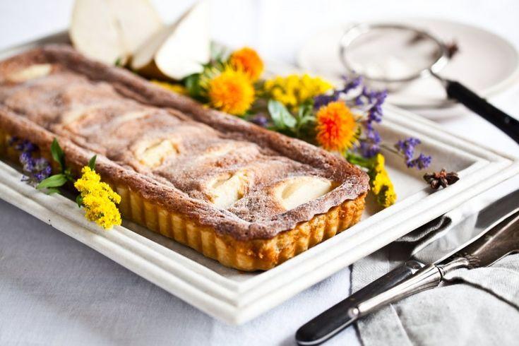 Tarte aux poires - Hruškový koláč s mandlovým krémem