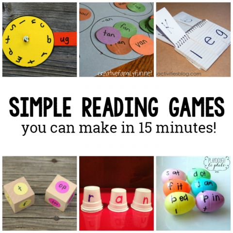 reading games you can make in just 15 minutes square image