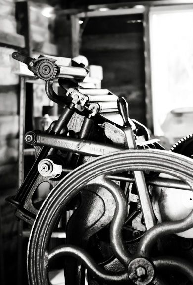 Charlie 1893 Chandler and Price Old Style Letterpress Machine