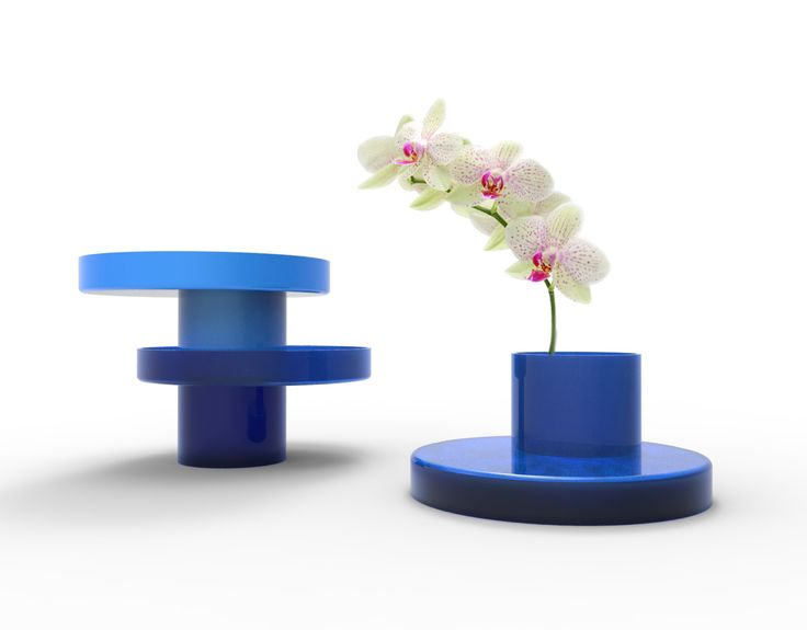Terrace is a multi functional vase, designed to be stack and reversible.