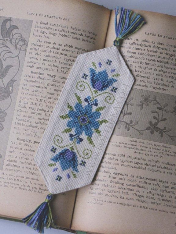 Meme Flowers cross stitch bookmark http://bottheka.com/en/meme-flowers-bookmark-new-cross-stitch-pattern