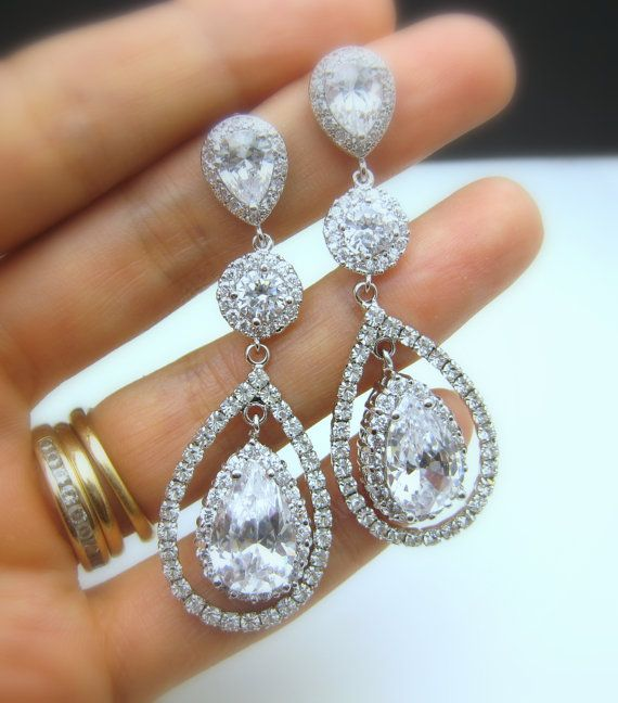 I just love ridiculously blingy stuff. I'd wear these with a sweater or turtle neck lol.