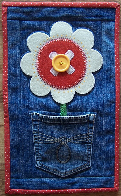 blue jean wall art, good way to keep babys first blue jeans!