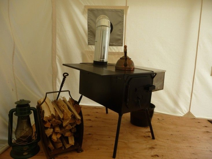 Outpost Co. tent stove | Remodelista
