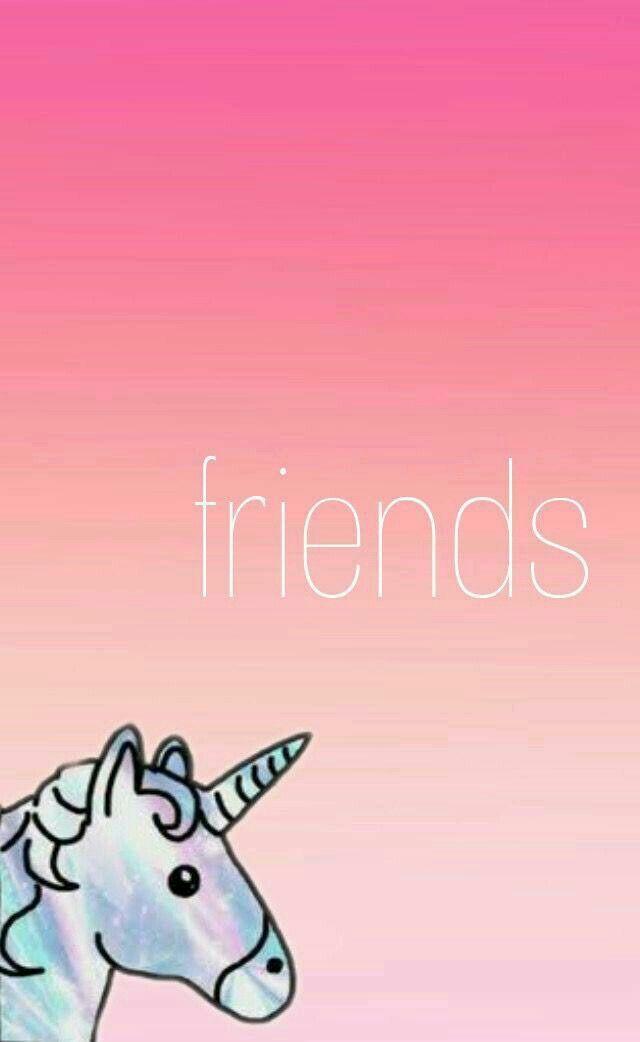 Pin By Alex Cisneros On Anime Best Friend Wallpaper Friends Wallpaper Unicorn Wallpaper