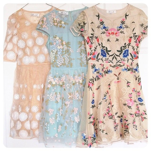 Pretty spring dresses.