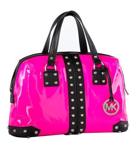 Bright pink & black.