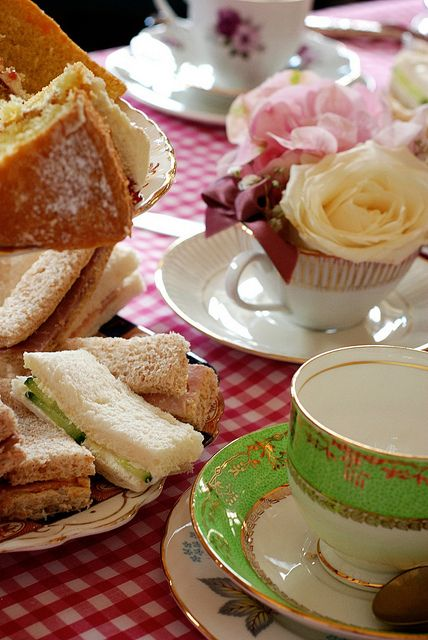 Afternoon tea spread