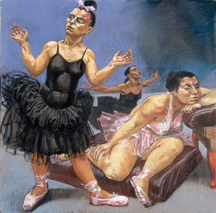 Paula Rego - Dancing Ostriches from Disney's 'Fantasia'