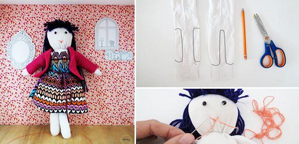 Πώς να φτιάξετε μια πανεμορφή κούκλα από κάλτσες! | Φτιάξτο μόνος σου - Κατασκευές DIY - Do it yourself