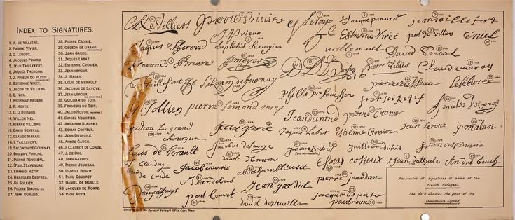 This Day in History: Oct 3, 1685: The Dutch East India Company decides to send French Huguenot refugees to the Cape dingeengoete.blogspot.com http://www.fredsenekal.net/wp-content/uploads/huguenot-signatures.jpg