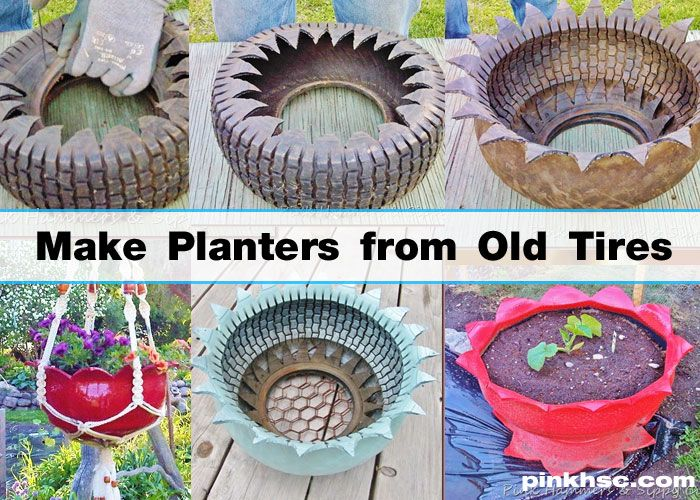 How to make a diy planter from a used tire gardens for Using tyres as planters