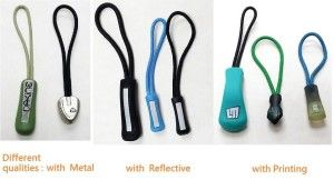 PVC rubber zipper pullers fashion sportswear