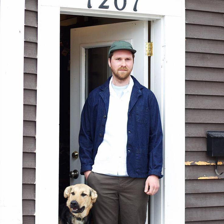 shopnaqp:    Spring is a great time to perfect your layering game. I mean anyone can layer in the fall/winter right? Spring takes skillllz!  -@fairends olive hypelite baseball cap  -#dickies1922 washed Indigo selvedge lapel coat  -@battenwear five island pocket shirt   -@velvasheen sax blue pigment pocket tee   -#DickiesxNAQP dark olive canvas chinos  & Poppy at the hip!    #buyquality #shopnaqp #buybetter #buylessbuybetter #fairends #dickies #battenwear #velvasheen #wiwt #kit #ootd #shopdog…