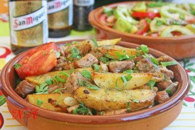 Оджахури-картофель с мясом по-грузински