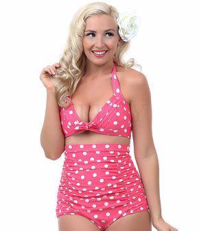 High Waist Bikini Sets RETRO Pinup Rockabilly Vintage Swimsuit Swimwear Push Up Bathing suit