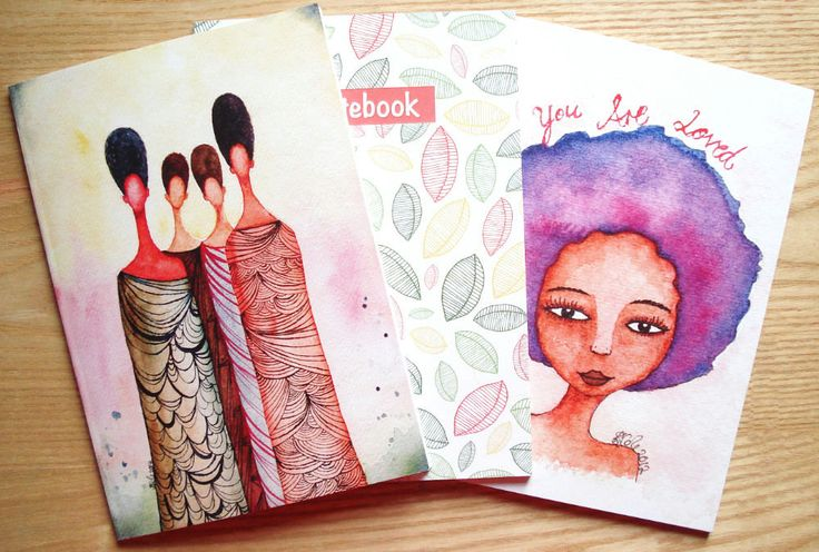 Illustrated Notebook Deal - Buy 3 at a Discounted Price by StaceyAnnColeArt on Etsy