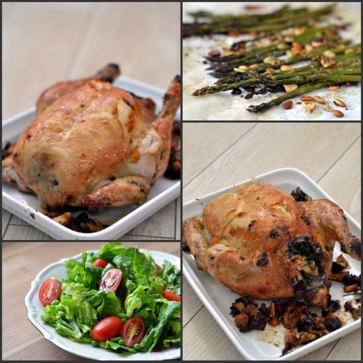 Sådan en helstegt kylling fyldt med guf, saftigt kød og sprødt skind er nu altså godt – så sådan en fik vi os til aftensmad den anden dag. Det tager tid at have sådan en basse i ovnen. Den skal have en næsten time i ovnen – men det tager max 10 minutter at klargøre...Read More »