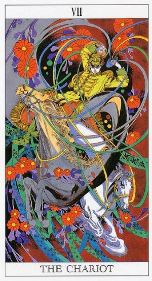 Love And Mystery Tarot By Yoshitaka Amano: The Chariot