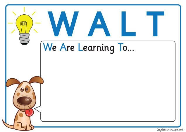 """WALT and WILF POSTERS  """"We are learning to"""" and """"What I'm looking for""""  These are great assessments for children to answer to help show the teacher if they are understanding what they are learning and what they would like to learn."""