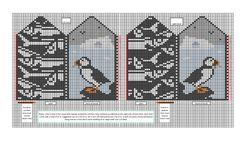 Ravelry: Puffin mittens colour chart pattern by Elizabeth Schatz